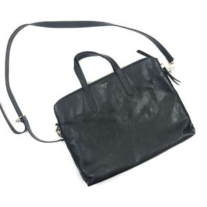 Fossil Women's Black Emma Laptop Bag